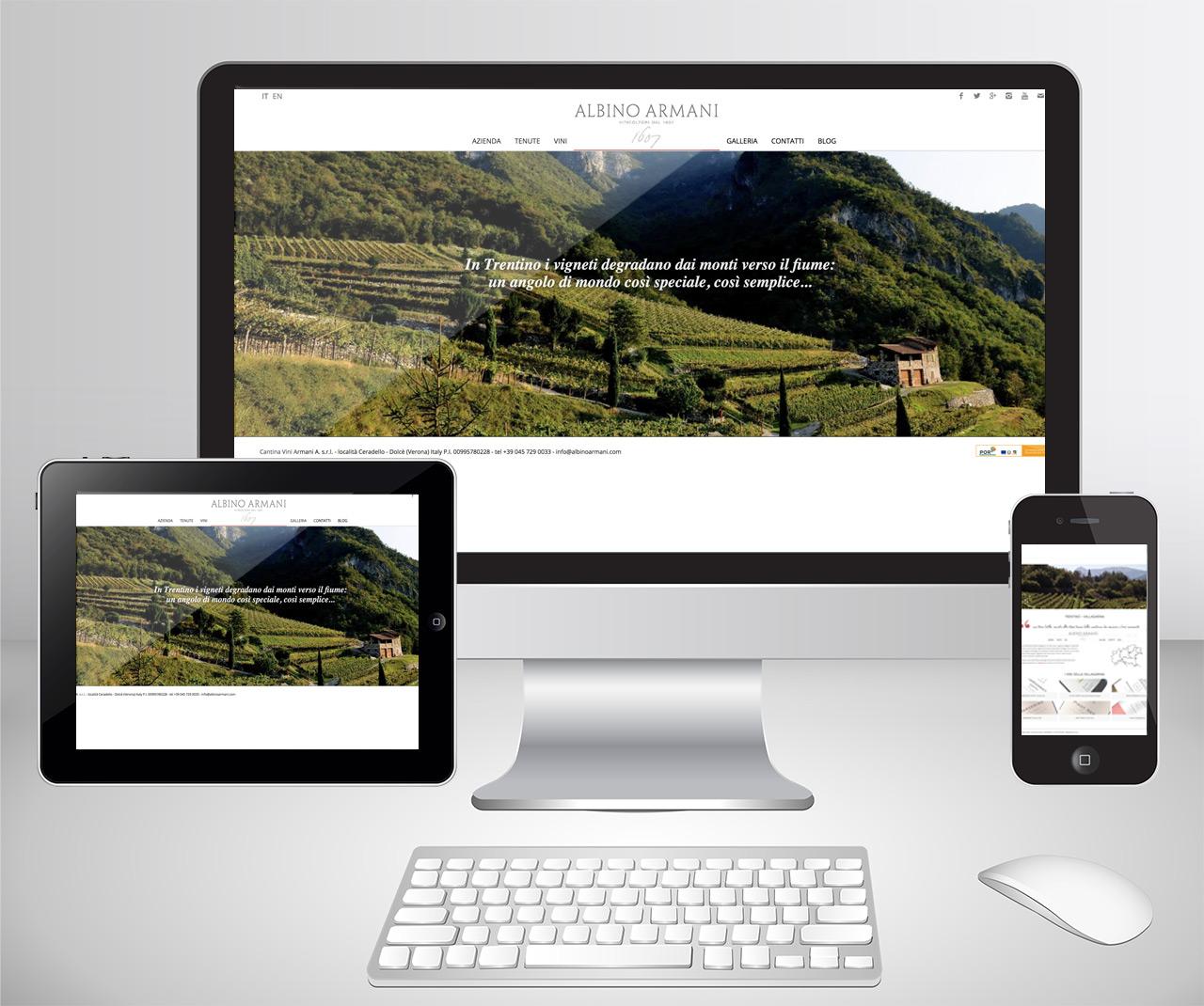 sito web Albino Armani